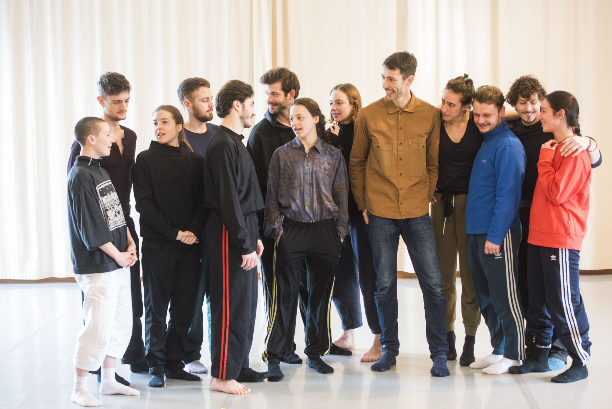 New Artistic Director Joan Clevillé with Scottish Dance Theatre dancers
